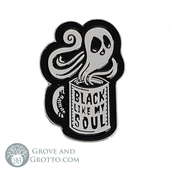 Black Like My Soul Enamel Pin - Grove and Grotto