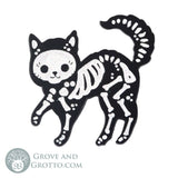 Skeleton Cat Enamel Pin - Grove and Grotto