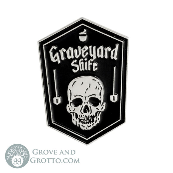 Graveyard Shift Enamel Pin