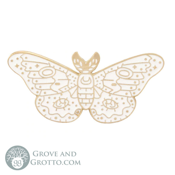 Luna Moth Enamel Pin - Grove and Grotto