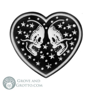 Skull Mates Enamel Pin - Grove and Grotto