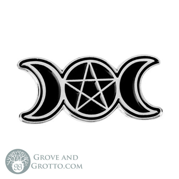 Triple Moon Enamel Pin - Grove and Grotto