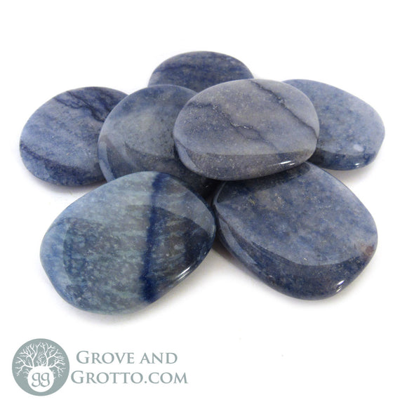 Blue Aventurine Oval Stone (Large) - Grove and Grotto