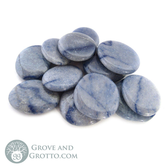 Blue Aventurine Oval Stone (Small) - Grove and Grotto