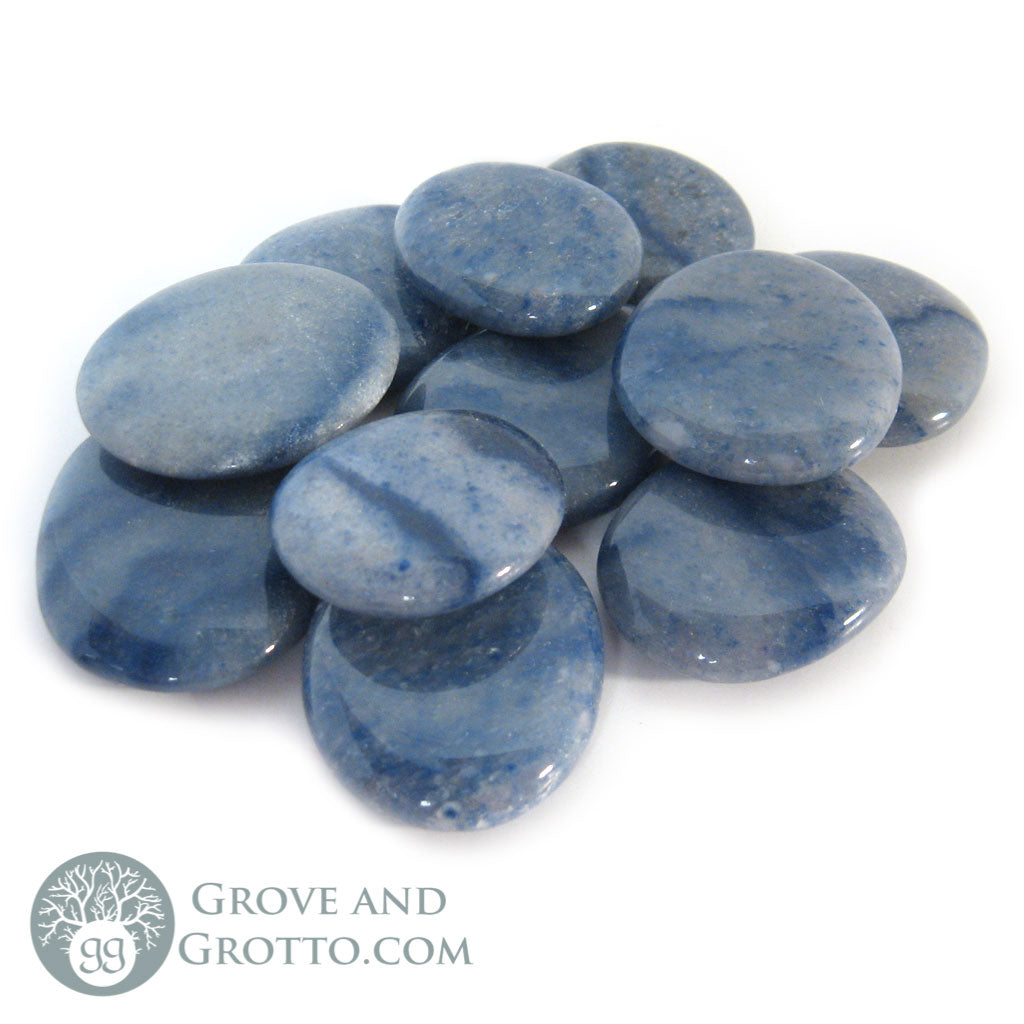 Blue Aventurine Oval Stone (1 Piece) - Grove and Grotto