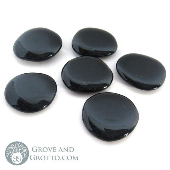 Black Obsidian Oval Stone - Grove and Grotto