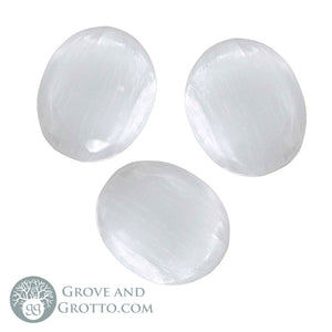 Selenite Oval (Small) - Grove and Grotto