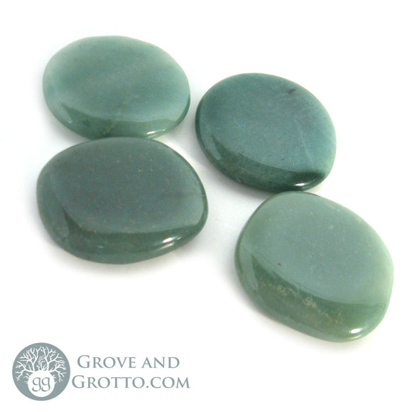 Green Aventurine Oval Stone (Large) - Grove and Grotto