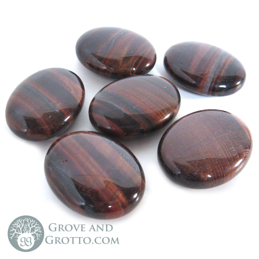 Red Tiger's Eye Oval Stone