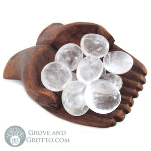 Clear Quartz Oval Stone - Grove and Grotto