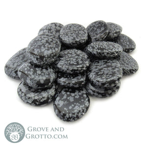 Snowflake Obsidian Oval Stone - Grove and Grotto