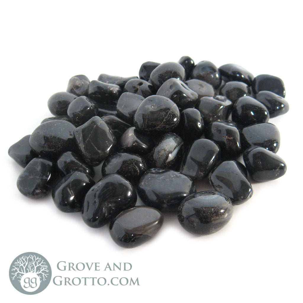 Black Onyx Tumbled Small (1/2 lb) - Grove and Grotto