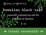 Hawaiian Black Salt (2 oz)