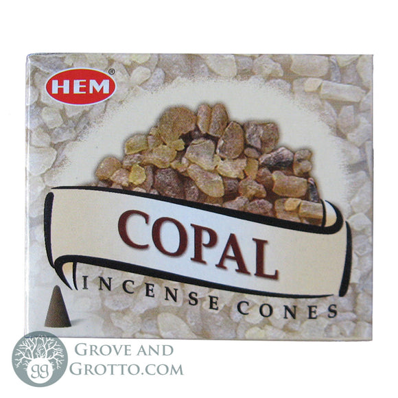 HEM Incense Cones - Copal - Grove and Grotto