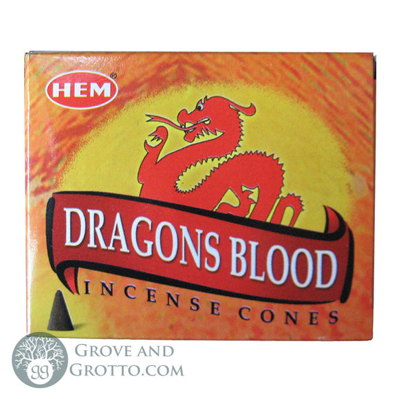 HEM Incense Cones - Dragon's Blood - Grove and Grotto