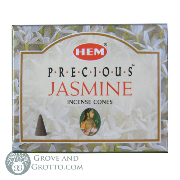 HEM Incense Cones - Precious Jasmine - Grove and Grotto