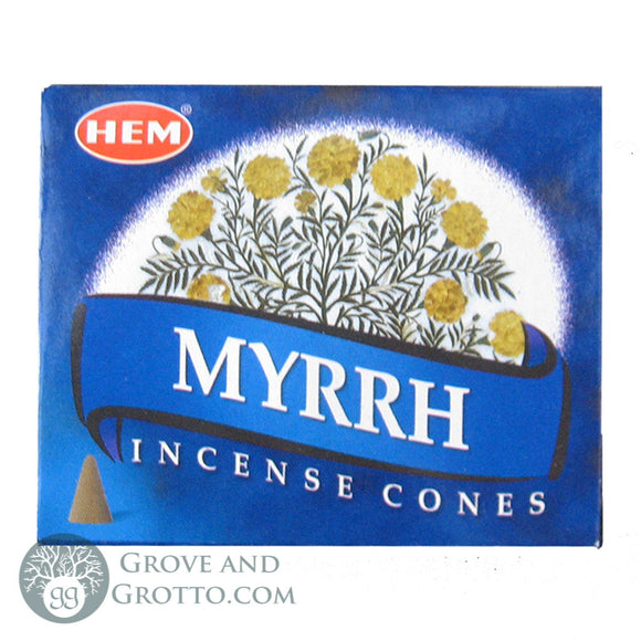HEM Incense Cones - Myrrh - Grove and Grotto