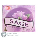 HEM Incense Cones - Sage - Grove and Grotto