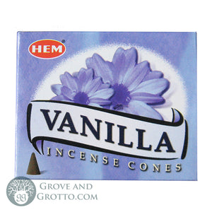 HEM Incense Cones - Vanilla - Grove and Grotto