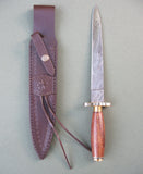 "Damascus Athame with Brass Studs 14"" - Grove and Grotto"