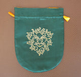 Green Man Embroidered Bag