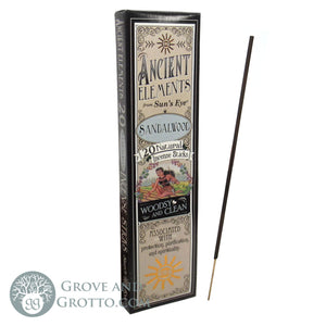Ancient Elements Incense by Sun's Eye - Sandalwood - Grove and Grotto