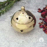 Brass Incense Burner with Hearts