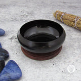 Black Metal Smudge Pot with Coaster