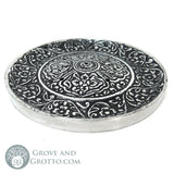 "Tibetan Style Round Incense Burner 3.75"" - Grove and Grotto"