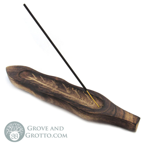 Wooden Leaf Shape Incense Burner