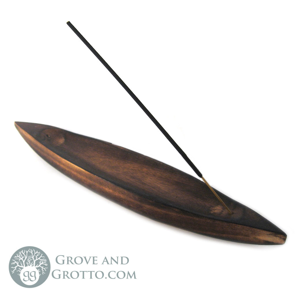 Wooden Boat Style Incense Burner