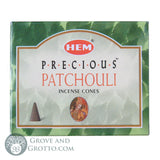 HEM Incense Cones - Precious Patchouli - Grove and Grotto