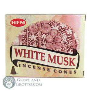 HEM Incense Cones - White Musk - Grove and Grotto