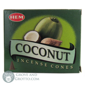 HEM Incense Cones - Coconut - Grove and Grotto