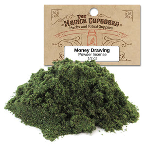 Money Drawing Powder Incense (1/2 oz) - Grove and Grotto