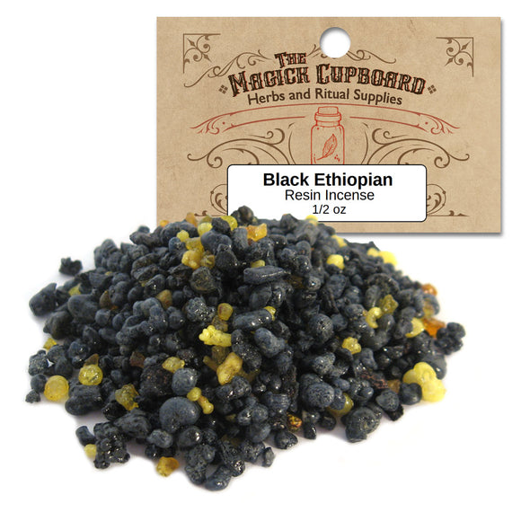 Black Ethiopian Resin Incense (1/2 oz) - Grove and Grotto