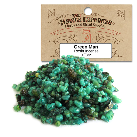 Green Man Resin Incense (1/2 oz)