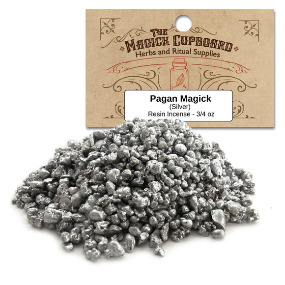 Pagan Magick Silver Resin Incense (3/4 oz) - Grove and Grotto
