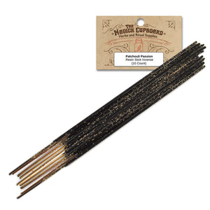 Resin Incense Sticks - Patchouli Passion - Grove and Grotto