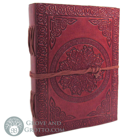 Celtic Mandala Leather Journal with Cord