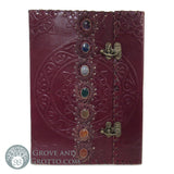 Seven Chakras Leather Journal - Grove and Grotto