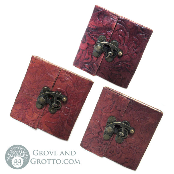Pocket Leather Journal with Latch - Grove and Grotto