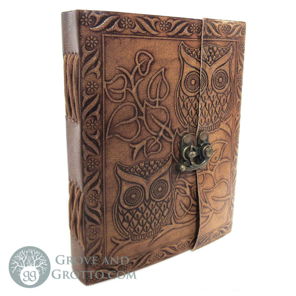 Owl Leather Journal - Grove and Grotto