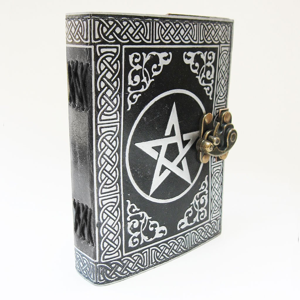Black and Silver Pentagram Journal - Grove and Grotto