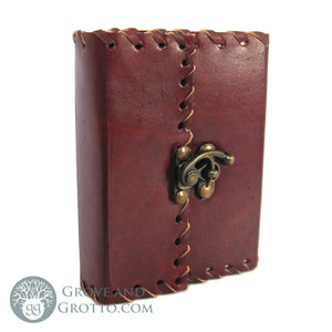Small Leather Journal with Latch 5""