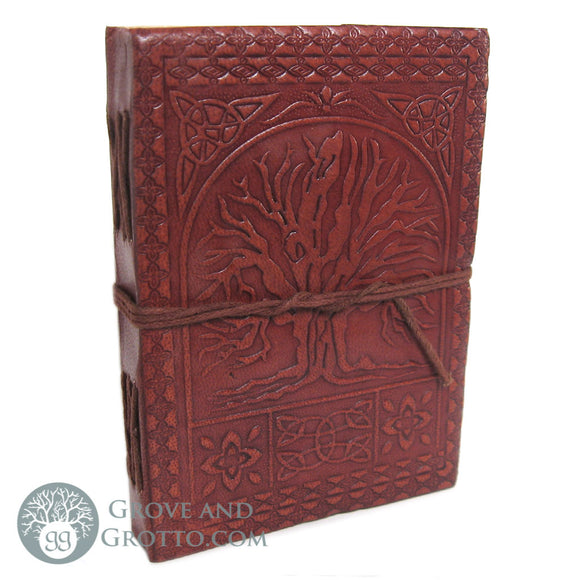 Tree of Life Leather Journal with Cord - Grove and Grotto