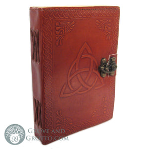 Triquetra Leather Journal with Latch - Grove and Grotto