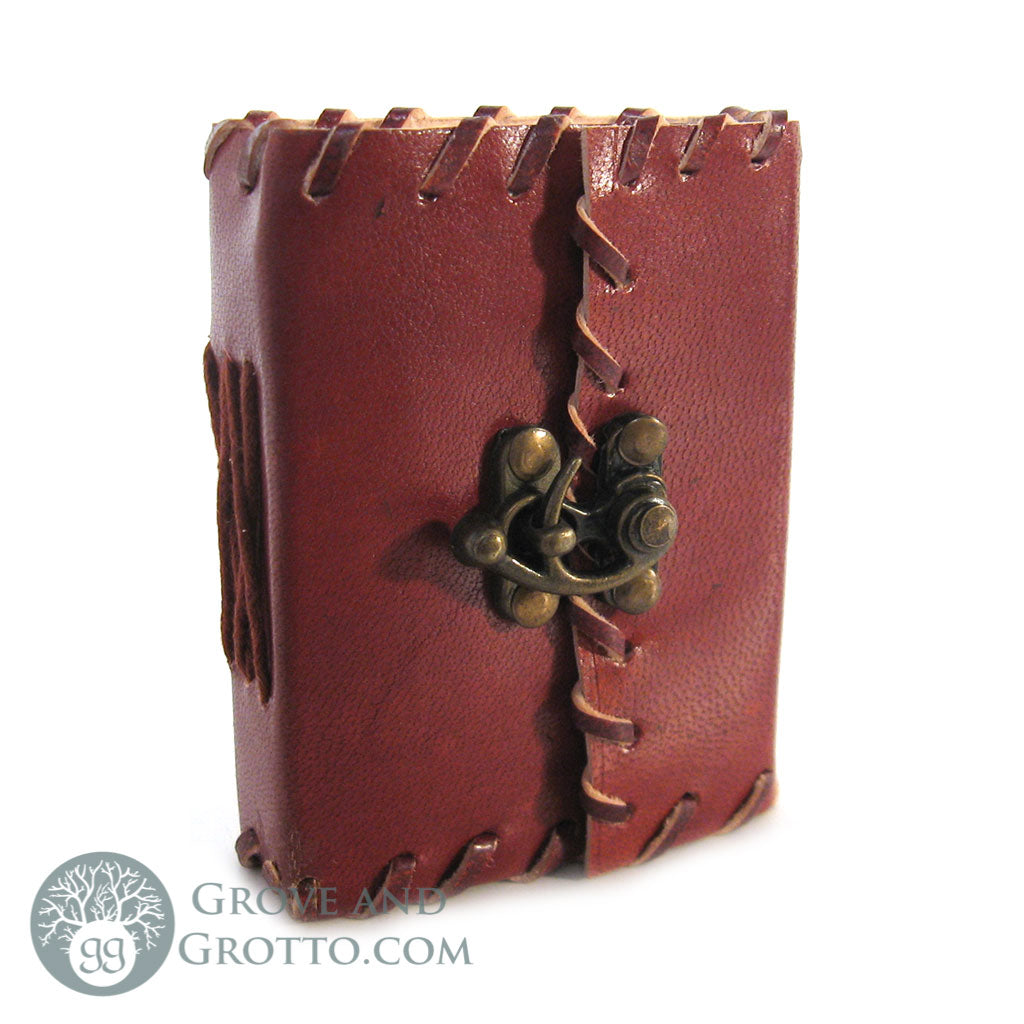 Mini Leather Journal with Latch 4""