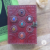 "Seven Chakras Leather Journal (8x6"")"