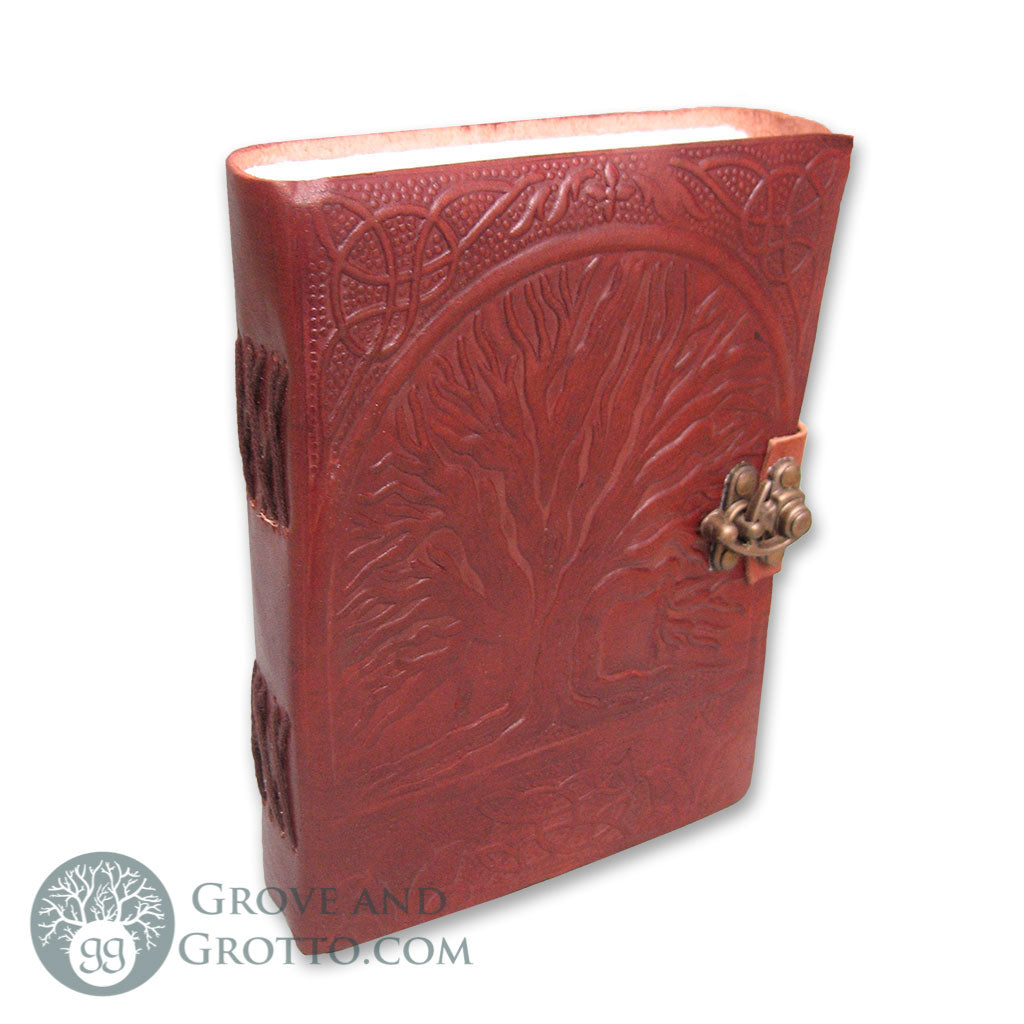 Tree of Life Leather Journal with Latch - Grove and Grotto